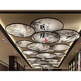 北京酒店新中式吸顶灯 现代中式手绘吸顶灯 供应酒店工程灯
