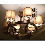 合江厨房中式吸顶灯 酒吧现代中式吸顶灯 圆形新中式铁艺吸顶灯定制
