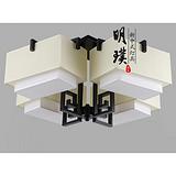 湖南卧室简约新中式吸顶灯 方形客厅现代中式吸顶灯 供应酒店工程灯