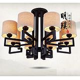 北京酒店现代中式吸顶灯 餐厅简约新中式铁艺吸顶灯 供应酒店工程灯