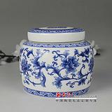 青花瓷茶叶罐 瓷器茶叶罐 景德镇茶叶罐