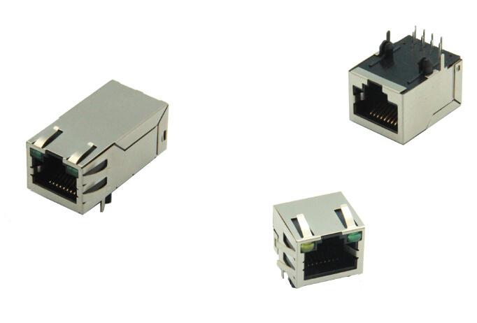 卧式rj45 卧式rj45网络接口连接器 加工定制祥龙嘉业