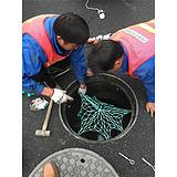 井盖防护网,聚远安全网,市政井盖防护网
