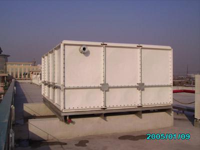 北京3*3*2玻璃钢水箱,消防水箱,楼顶消防水箱,生活水箱图片