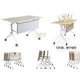 折叠培训学习桌 办公家具折叠会议桌定制 新型折叠办公桌价格