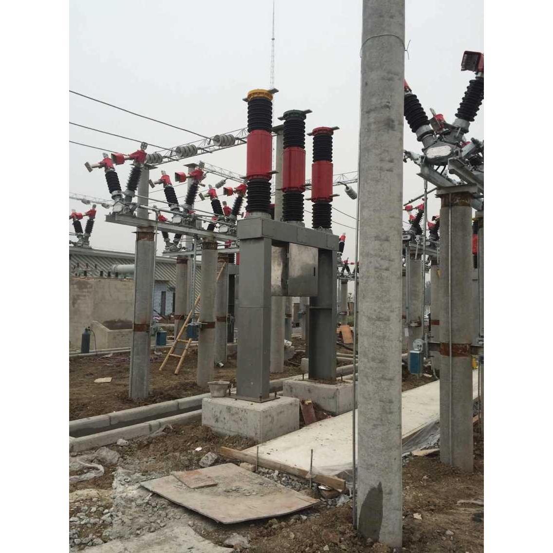5型户外高压真空断路器,为外置电流互感器,配ct17型弹簧操动机构.