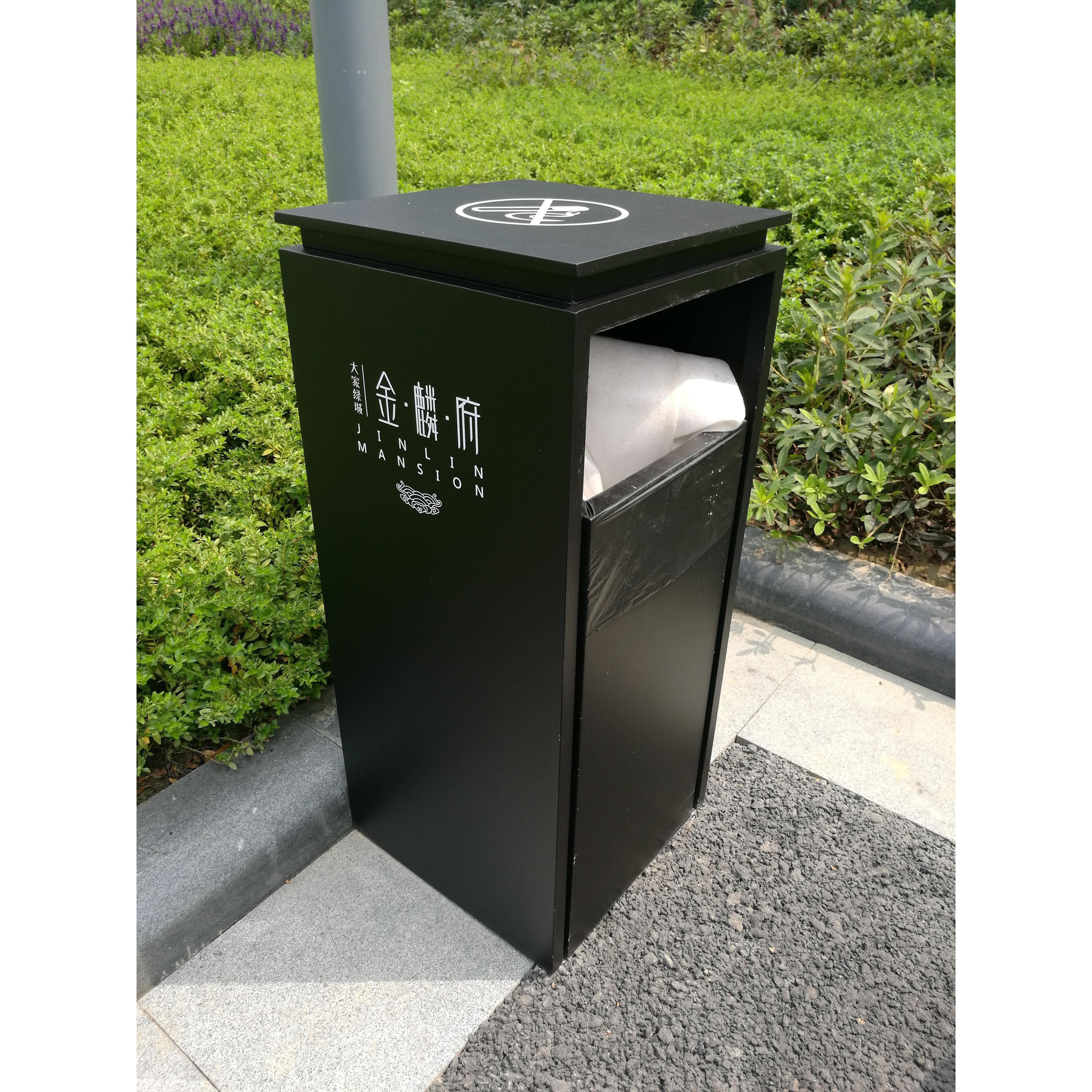 环卫垃圾桶价格_杭州欣昌黑色户外小区街道垃圾桶