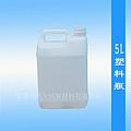 东莞生产塑料扁罐5L塑料瓶半透明色