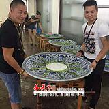 酒店陶瓷海鲜大盘一米釉上彩盘子定做