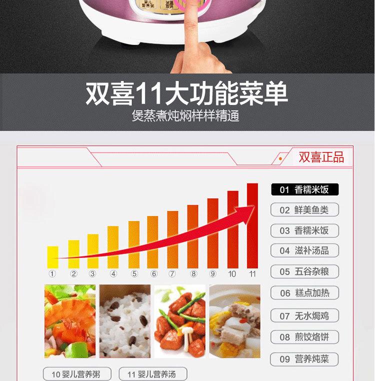 电饭锅价格_双喜双内胆电压力锅智能微电脑小