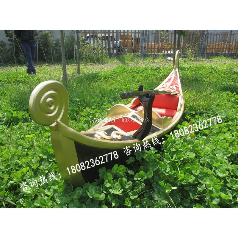 【新品特价】木船 欧式木船 房地产酒店商场装饰船 威尼斯贡多拉
