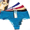 一片式无痕性感冰丝女士内裤批发 外贸新款蕾丝镂空情趣女式内裤库存