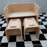 广东厂家销售环保木质儿童学习桌椅,弯曲木胶合板定制