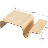耐腐蚀手提曲木电脑桌,锥形曲木板,千层板加工