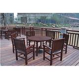 宿州酒店实木桌椅 亳州花园木质餐桌椅 桌椅图片