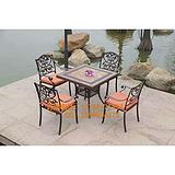 南平公园铸铝桌椅 三明园林铸铝餐桌椅 龙岩市广场铸铁桌椅