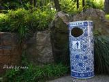 供应皇室座地烟灰桶 陶瓷富贵盆大堂垃圾桶 陶瓷垃圾桶厂家