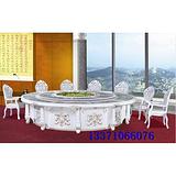 重慶實木火鍋桌子,豪華電動桌餐臺,多人中式實木電旋轉餐桌價格