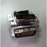 24+5黑色焊线式公头DVI连接器