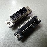 24+5黑色弯脚式母座DVI连接器