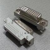 24+5弯脚式母座DVI连接器