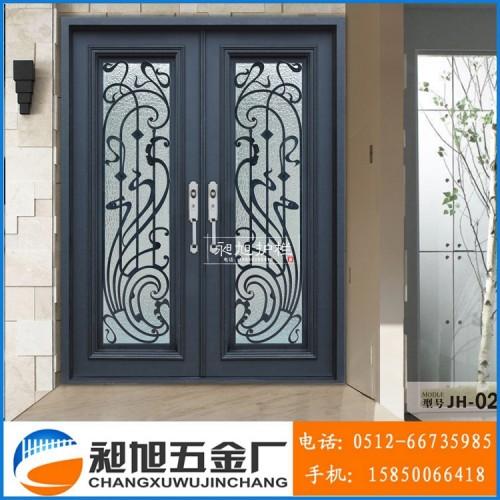 厂家直销铝合金进入门 铸铝进户门定制 别墅庭院门定制