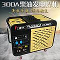 移动便携式220V柴油发电机带300A安焊机