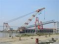 码头钢引桥_钢引桥吊装_万力航道多图