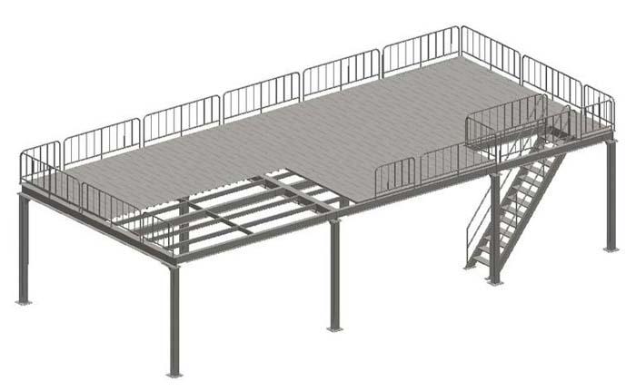 平台结构通常由铺板,主次梁,柱,柱间支撑,以及梯子,栏杆等组成.